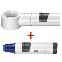 虫眼鏡 置き型 ライトルーペ [system vario plus] ヘッド+LEDライト付グリップのセット 12.5倍 35mm 155774 エッシェンバッハ