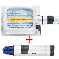 虫眼鏡 置き型 ライトルーペ [system vario plus] ヘッド+LEDライト付グリップのセット 2.8倍 75×100mm 158264 エッシェンバッハ