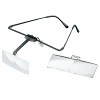 ラボ・フレーム [labo-med] フレーム+レンズ2枚セット 2.5・3倍 眼鏡のように耳に掛ける フレームタイプ 両眼レンズ 1644523 ヘッドルーペより気軽です エッシェンバッハ