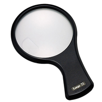 メール便可 拡大 虫眼鏡 虫めがね ルーペ 1550-P 2倍4倍 レンズ 日本 新色 直径75mm 池田レンズ ナインルーペ 小レンズ
