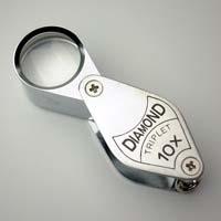 虫眼鏡 宝石用 メタルホルダールーペ 7010 10倍 17mm トリプレットレンズ仕様 池田レンズ