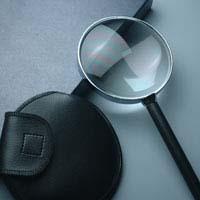虫眼鏡 拡大鏡 非球面 高倍率 革巻ルーペ AS-24 3.5倍 90mm 池田レンズ ルーペ ルーペ 拡大鏡