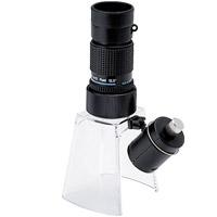 LEDライト付き マイクロスコープ KM-412LS 12倍 小型顕微鏡 ギャラリースコープ[KM-412] LEDライト付きルーペスタンド[KM-1LED] セット 池田レンズ