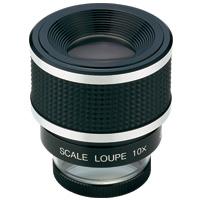 【5と0のつく日クーポン配布中】虫眼鏡 スケールルーペ SL-10A 10倍 28mm 測量,検査用 高倍率ルーペ 池田レンズ
