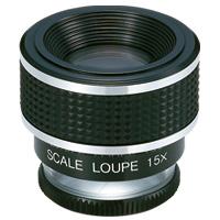虫眼鏡 スケールルーペ SL-15A 15倍 20mm 測量,検査用 高倍率ルーペ 池田レンズ