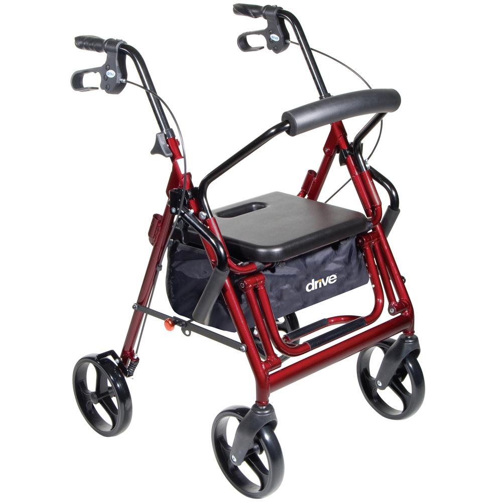 歩行車 デュエット バーガンディ 介護 老人 用 高齢者 リハビリ 歩行器 介助車 福祉用具 自立歩行