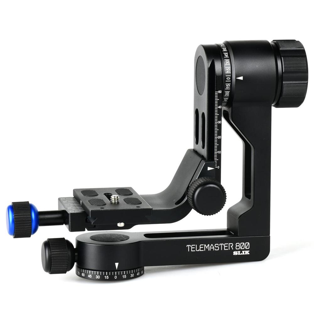 カメラアクセサリー 雲台 三脚 超 望遠レンズ 撮影 クイックシューはアルカスイス互換。 ジンバル 雲台 テレマスター800 SLIK スリック カメラ ビデオ アルカスイス ミラーレス 一眼レフ おすすめ