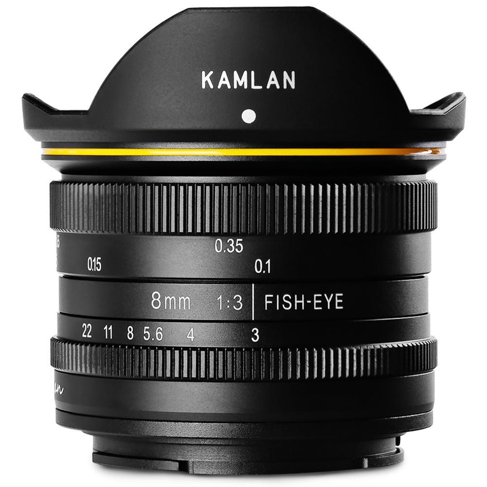 カメラレンズ 8mm F3.0 KAMLAN カムラン レンズ 超広角単焦点レンズ 超広角レンズ 魚眼レンズ 超広角デジカメ ミラーレス フィッシュアイレンズ キャノン Canon ソニー