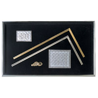 金銀 曲尺 額セット 金墨壺付 98760 測定 工具 直角 曲尺 定規 DIY シンワ測定