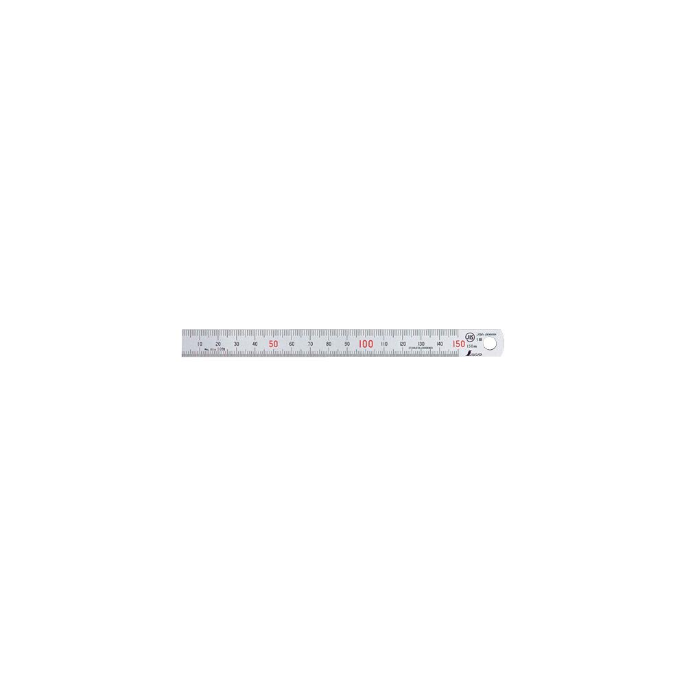 【メール便可】 測定 工具 直尺 定規 DIY さし 直尺 ステン 15cm赤数字入 JIS 14001 ステンレス ステン スケール 定規 シンワ測定