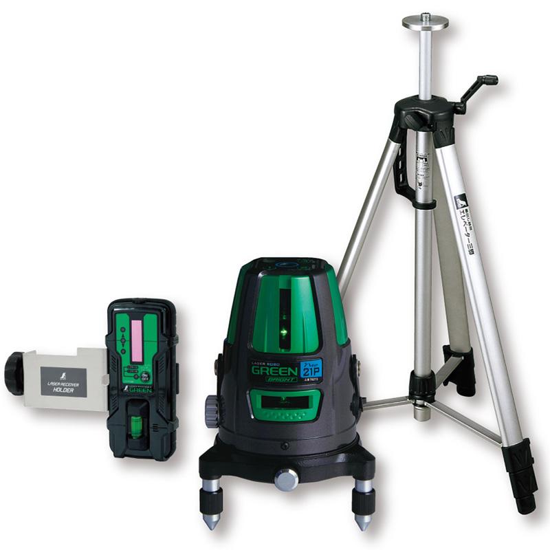レーザーロボ グリーンNeo21PBRIGHT 受光器・三脚セット 78283 シンワ測定 レーザー 光学機器 建築 土木 測量 測定器 測量用品