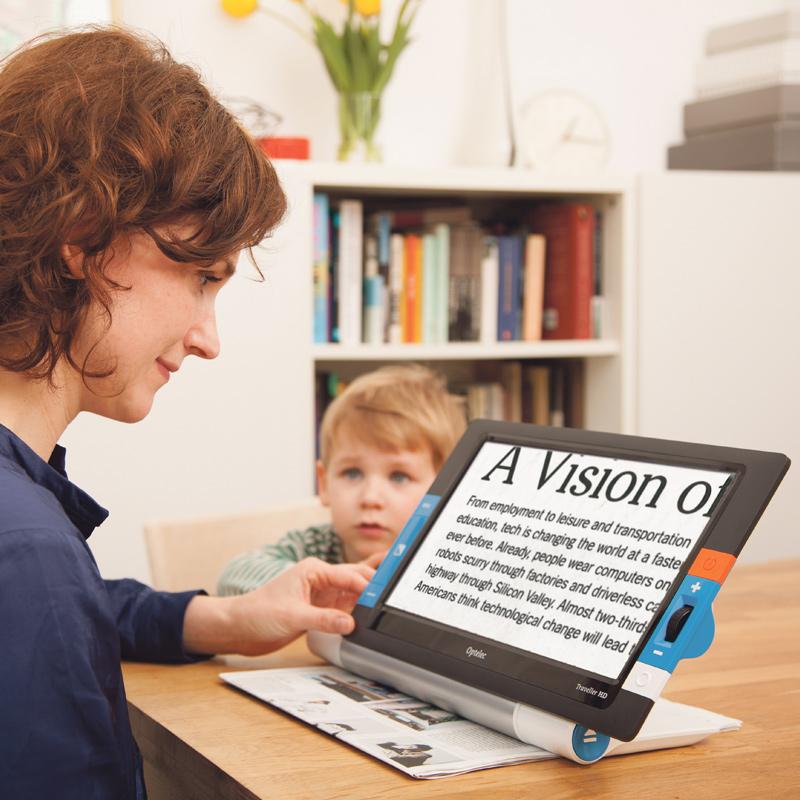 テレビルーペ 弱視 拡大 読書器 介護用品 福祉 視覚障害 持ち運べる卓上型 拡大読書器 トラベラー HD あんしんアフターサービスセット Times おすすめ 視覚障害 視覚障がい
