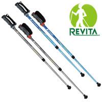 レビータ ファイテン3S モデル 2本1組 長さ調整式 85~120cm ポールウォーキング REVITA シナノ 杖 登山 ポールウォーキング ウォーキングポール