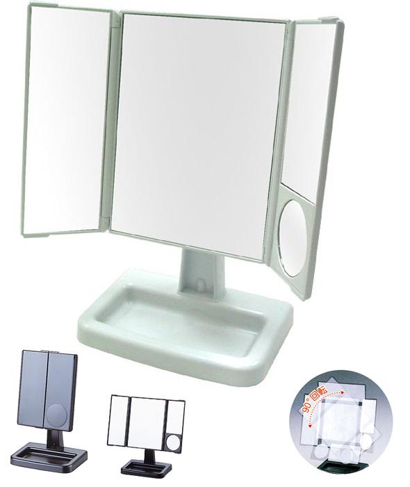 表三鏡山村 [鏡子] 鏡像表鏡像站旋轉眼化妝鏡方便桌面