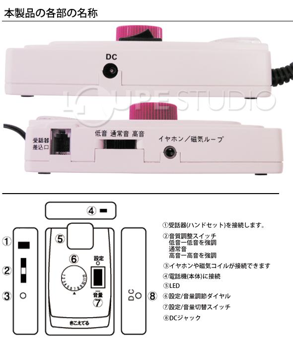 受話音増幅器 きこえてる TA-12 助聴器 電話 電話 音量 難聴