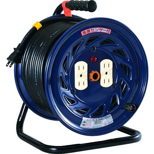 日動 電工ドラム 標準型100Vドラム 2芯 温度センサー:自動復帰型 50m [NF-504D] NF504D 販売単位:1 送料無料