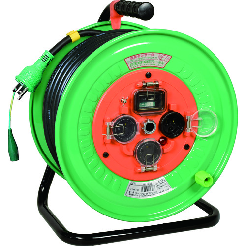 日動 電工ドラム 防雨防塵型100Vドラム アース付 漏電遮断器付 30m NW-EB33 [NW-EB33] NWEB33 販売単位:1 送料無料