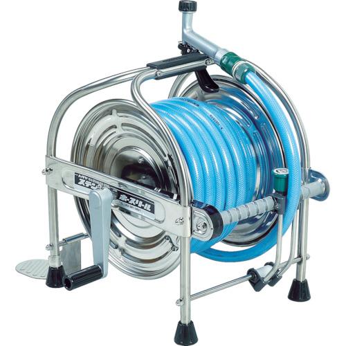 ハタヤ ステンレス(SUS304)ホースリール 20m耐圧ホース レバーノズル付 [SSA-20P] SSA20P 販売単位:1 送料無料