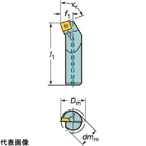 サンドビック コロターン107 ポジチップ用ボーリングバイト [A16R-SSKCR09] A16RSSKCR09 1個販売 送料無料