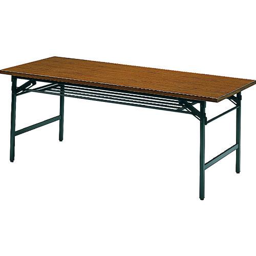 TRUSCO トラスコ中山 折りたたみ会議テーブル 1800X750XH700 チーク [1875] 1875 販売単位:1 運賃別途