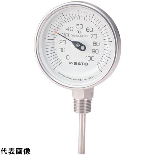 佐藤 バイメタル温度計BMーS型 [BM-S-90S-3] BMS90S3 販売単位:1 送料無料