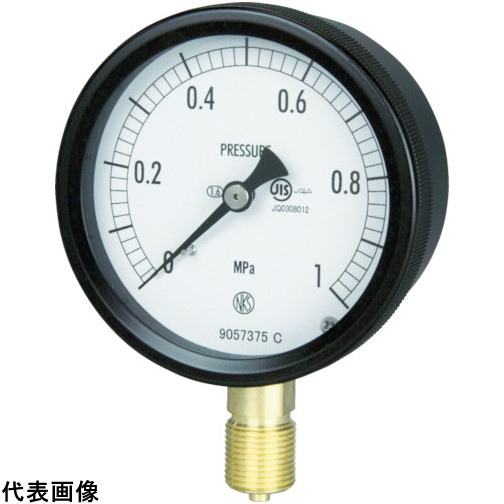 長野 密閉形圧力計 A枠立型 Φ75 最小目盛0.020 [BC10-131-1.0MP] BC101311.0MP 販売単位:1 送料無料