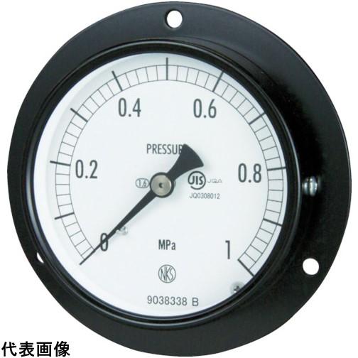 長野 普通形圧力計 D枠埋込型 Φ75 最小目盛0.100 [AC15-231-6.0MP] AC152316.0MP 販売単位:1 送料無料