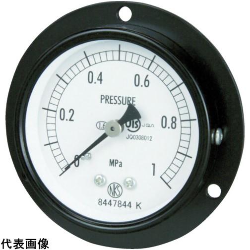 長野 普通形圧力計 D枠埋込型 Φ60 最小目盛0.100 [AA15-221-6.0MP] AA152216.0MP 販売単位:1 送料無料