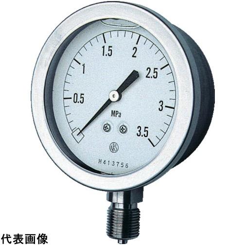 長野 グリセン入圧力計 A枠立型 Φ75 最小目盛0.100 [GV51-133-3.5MP] GV511333.5MP 販売単位:1 送料無料