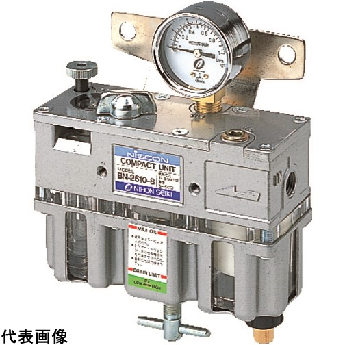 日本精器 FRLユニット8A一体型 [BN-2510-8] BN25108 販売単位:1 送料無料