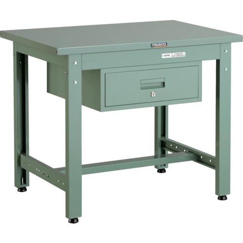 TRUSCO トラスコ中山 GWS型作業台 900X600XH740 1段引出付 [GWS-0960F1] GWS0960F1 販売単位:1 北海道・沖縄・離島は除く