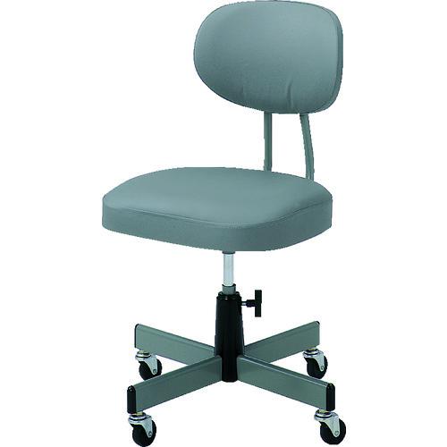 TRUSCO トラスコ中山 事務椅子 ビニールレザー張り グレー [T-80] T80 販売単位:1 送料無料