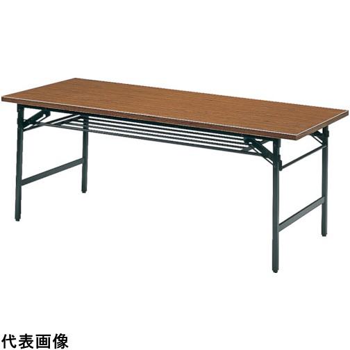 TRUSCO トラスコ中山 折りたたみ会議テーブル 1500X600XH700 チーク [1560] 1560 販売単位:1 運賃別途