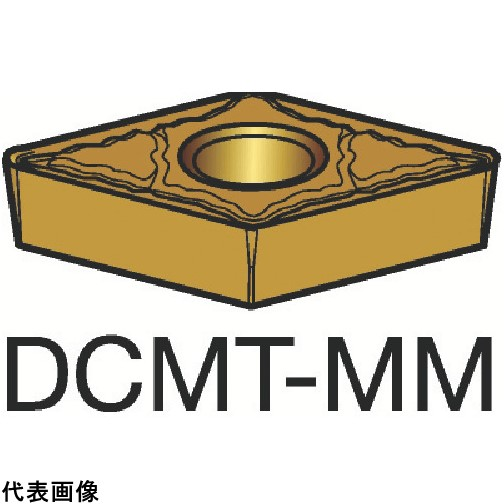 サンドビック コロターン107 旋削用ポジ・チップ 1115 [DCMT 11 T3 08-MM 1115] DCMT11T308MM 10個セット 送料無料