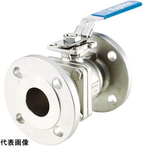 フジキン ステンレス鋼製1MPaフランジ式2ピースボール弁80A(3) [UBV-21-J10R-K-ALX] UBV21J10RKALX 販売単位:1 送料無料