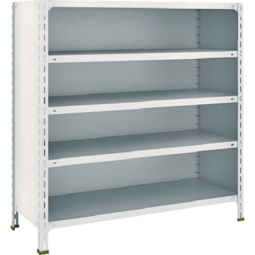 TRUSCO トラスコ中山 軽量棚背板・側板付 W1200XD450X1200 5段 ネオグレー [44X-25 NG] 44X25 販売単位:1 送料無料