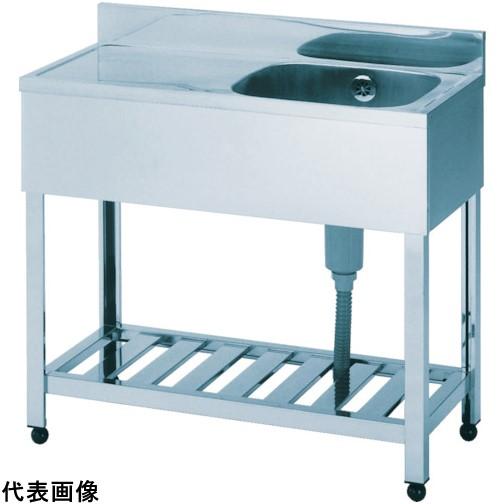 アズマ 一槽水切シンク右水槽 1500×600×800 [HPM1-1500R] HPM11500R