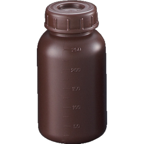 サンプラ PE広口遮光瓶 250ml (100個入) [2911] 2911 販売単位:1 送料無料