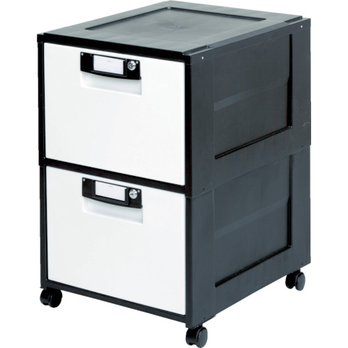 IRIS 262933 オフィスキャビネット HG-202 ブラック [HG-202-BK] HG202BK 販売単位:1 送料無料