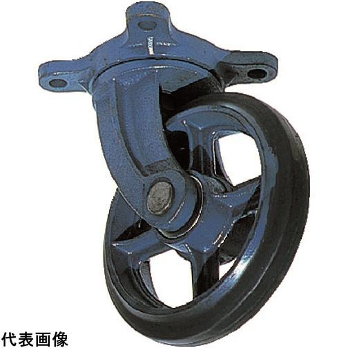 京町 鋳物製自在金具付ゴム車輪200MM [AJ-200] AJ200 販売単位:1 送料無料