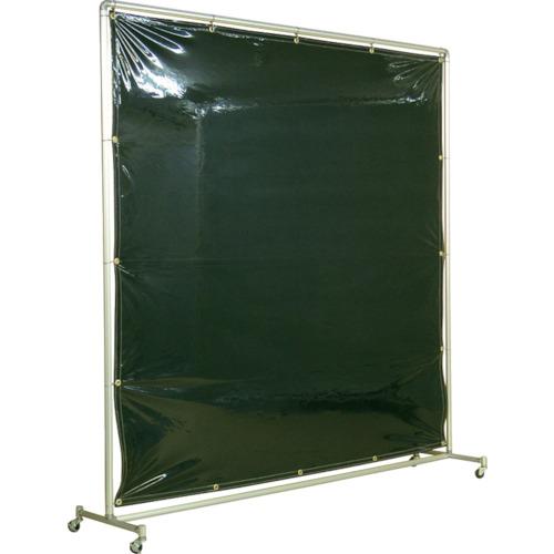 吉野 遮光フェンスアルミパイプ 2×2 単体キャスター ダークグリーン [YS-22SC-DG] YS22SCDG 送料無料