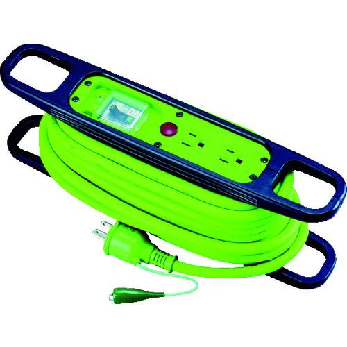 日動 ハンドリール 100V 3芯×10m 緑 アース漏電しゃ断器付 [HR-EB102-G] HREB102G 販売単位:1 送料無料