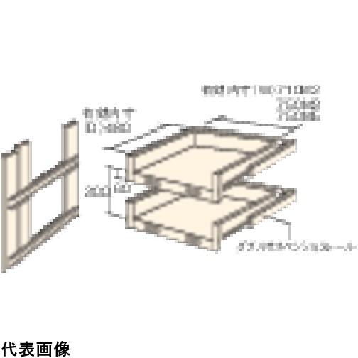TRUSCO トラスコ中山 M3・M5型棚用スライド棚 2段セット [HTMM-6002] HTMM6002 販売単位:1 運賃別途