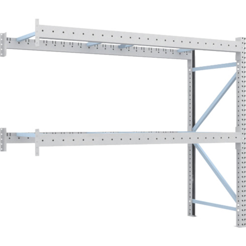 TRUSCO トラスコ中山 重量パレット棚2トン2300×900×H2000連結 2段 [2D-20B23-09-2B] 2D20B23092B 販売単位:1 運賃別途