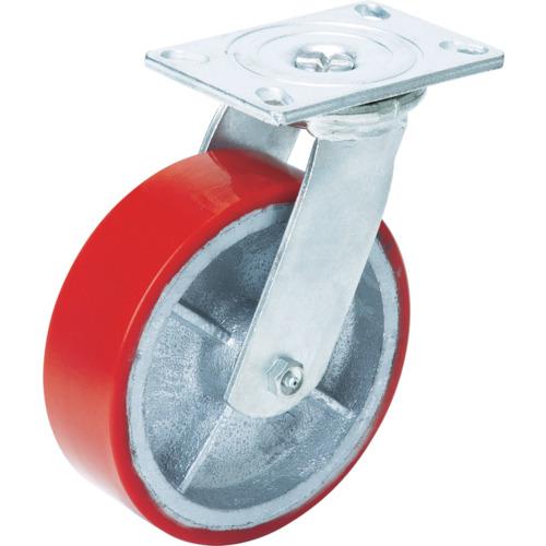 OH スーパーストロングキャスターHシリーズ超重荷重用 ウレタン車 車輪径200mm [H14FU-200] H14FU200 販売単位:1 送料無料