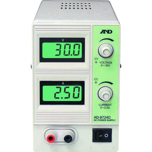 A&D 直流安定化電源 30V 2.5A [AD8724D] AD8724D 販売単位:1 送料無料