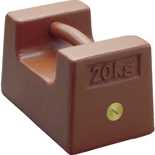 ViBRA 鋳鉄製枕型分銅 20kg M2級 [M2RF-20K] M2RF20K 販売単位:1 送料無料