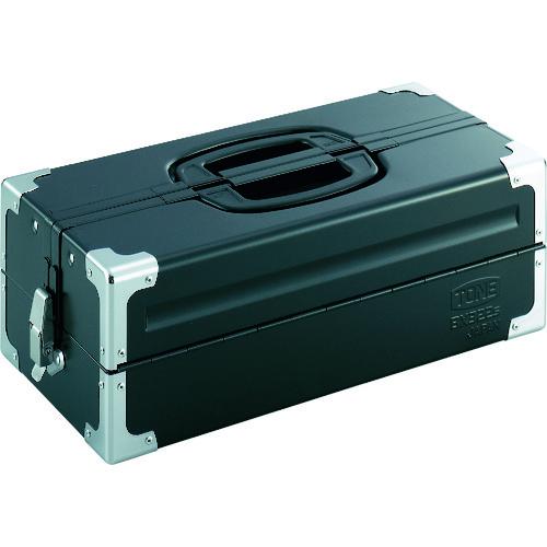 TONE ツールケース(メタル) V形2段式 マットブラック [BX322SBK] BX322SBK 販売単位:1 送料無料