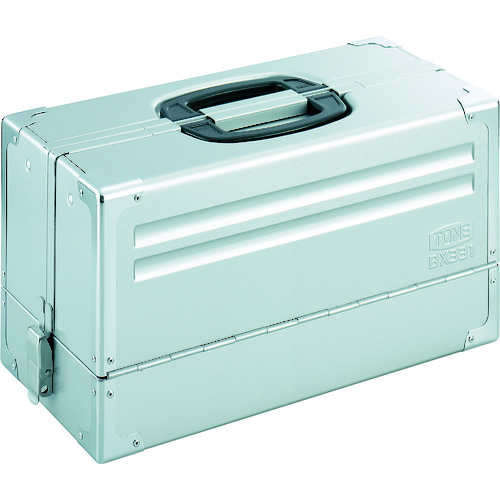 TONE ツールケース(メタル) V形3段式 シルバー [BX331SV] BX331SV 販売単位:1 送料無料