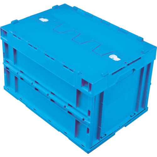 積水 フタ一体ロック付きオリコン青 [5LRFSB] 5LRFSB 販売単位:1 送料無料